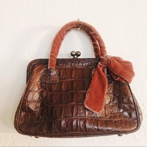 Authentic Miu Miu Vintage Croc Embossed Handbag